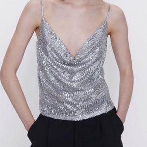 Zara sequin top - M